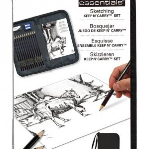 Drawing-and-Sketching-Pencil-Set-In-Zippered-Carrying-Case-0
