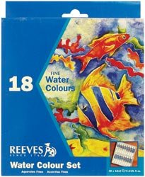 Reeves-Assorted-12-Milliliter-Watercolor-Paint-18-Pack-0