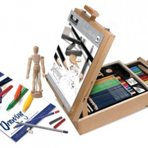 Royal-Langnickel-124-Piece-Sketching-and-Drawing-Easel-Artist-Set-0